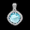 Срібний Кулон з великим каменем
