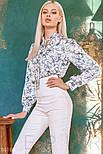 Свободная блуза в цветочек с завязками, фото 4