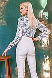 Свободная блуза в цветочек с завязками, фото 5