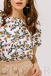Шелковая цветочная блуза, фото 4