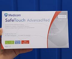 Перчатки смотровые нитриловые текстурированные без пудры нестерильные 4 г  (100 шт/уп) Red Medicom (L)