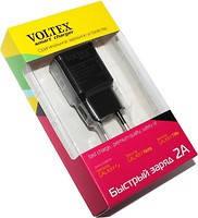 Зарядное устройство Voltex, Black, 1xUSB, 5V / 2A + кабель microUSB (VLT-9200), зарядка для смартфона, телефон, фото 2