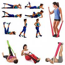 Резинки для фитнеса LATEX BAND для йоги пилатеса Lpowex 5 штук в комплекте. Разноцветные, фото 2