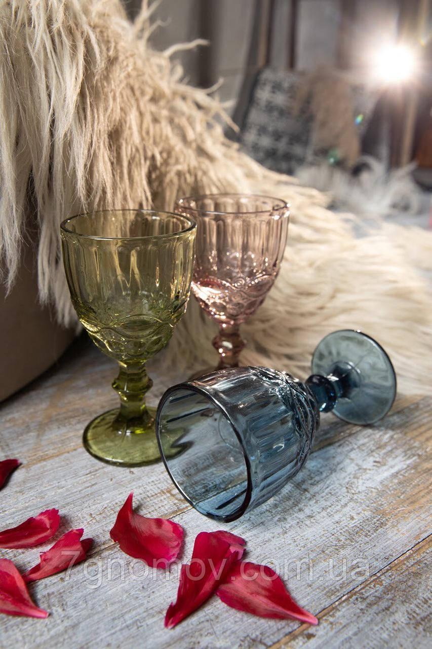 Набор 6 бокалов из цветного стекла Виктори 250 мл Разноцветный