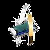 Кулон серебряный с золотой напайкой
