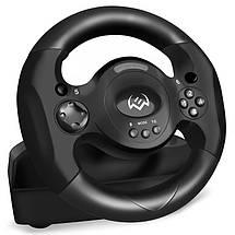 Игровой Руль и Педали для ПК Sven GC-W300, приставка-руль с педалями для компьютера и ноутбука, фото 2