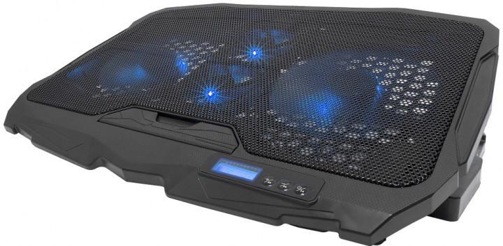 Подставка охлаждающая для ноутбука 4 вентилятора, диагональ 9-17 дюймов чёрный S18