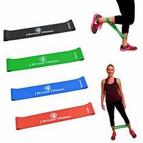 Резинки для фитнеса LATEX BAND для йоги пилатеса Lpowex 5 штук в комплекте. Разноцветные, фото 3