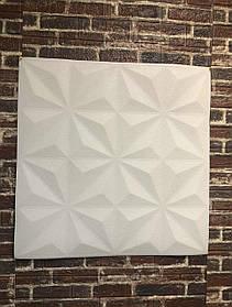 3D панель потолочная самодовлеющая на потолок наклейка ПВХ Самоклейка 3Д толщина 5мм Пирамидки