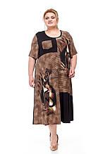 Красивое летнее платье батал Колета 2 цвета (62-72)