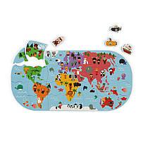 Игрушка для купания Пазл Карта мира, 3+