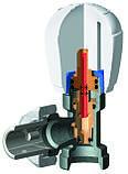 Вентиль+отсекатель для радиатора угловой FIV DN15, фото 3