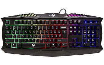 Игровая клавиатура Genius Scorpion K220 USB Black с подсветкой 7 цветов, геймерская клавиатура, фото 2