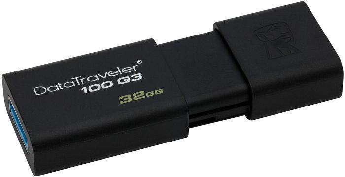 Флешка USB 3.0 32 Gb Kingston 100 G3 Black / 32/6Mbps / DT100G3/32 Gb