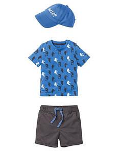 Костюм для мальчика (футболка, шорты, кепка) Skater IAN 306990 Lupilu (Германия) р.98/104, 110/116см