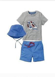 Летний набор (футболка, шорты, панамка) для мальчика Lupilu (Германия) р.98/104, 110/116