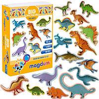 """Набор магнитов """"Большие динозавры"""", в кор. 17*12*4см Украина, Magdum"""