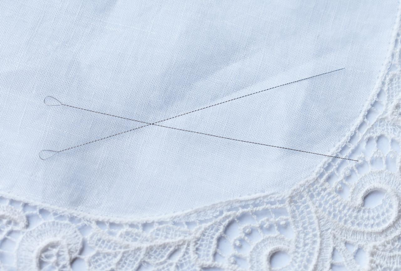 Тончайшая бисерная игла, 1шт, витая для нанизывания