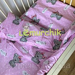 Постельный набор в детскую кроватку (3 предмета) It's a girl, розовый