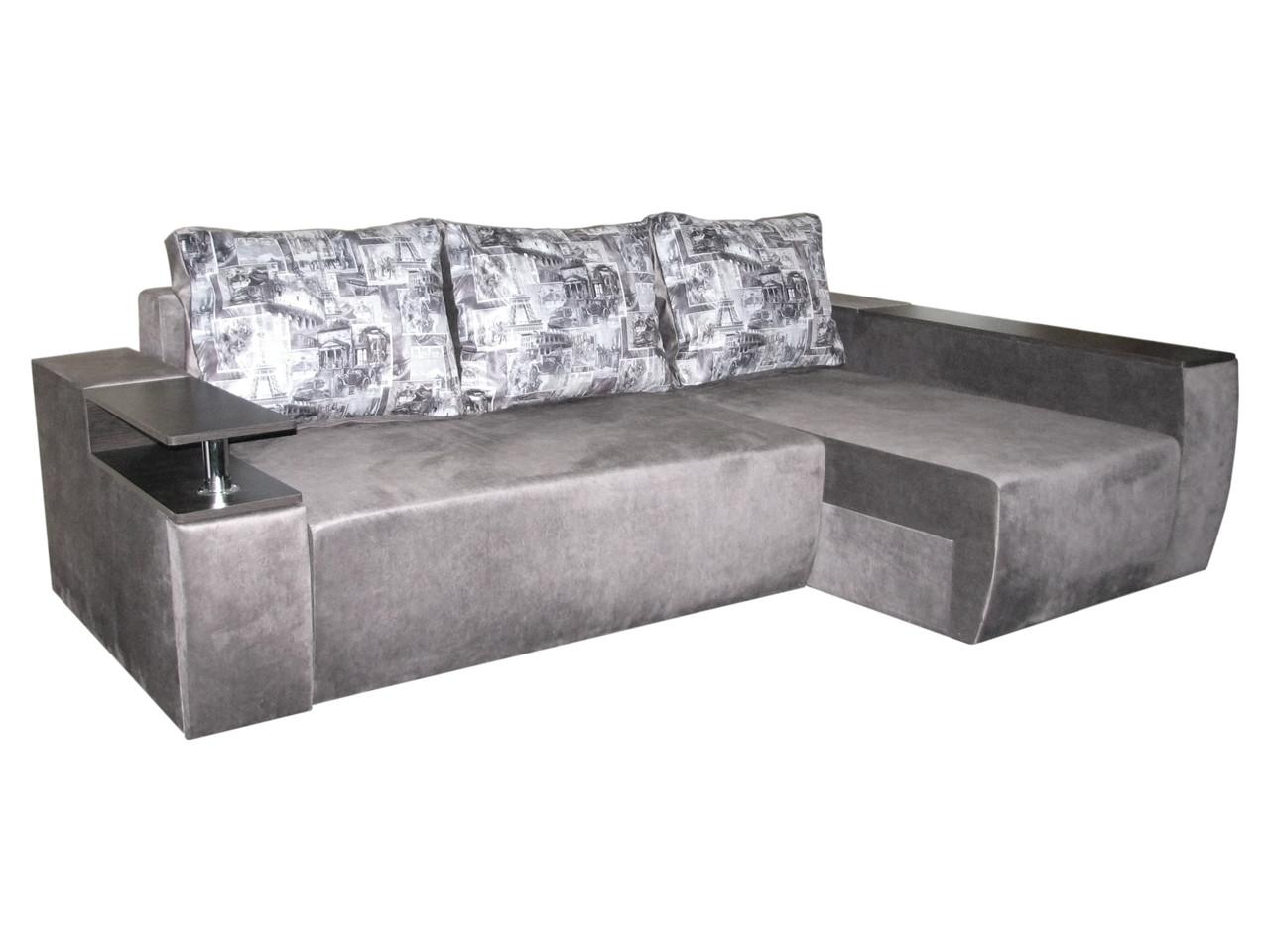Угловой диван на пружинном блоке Мустанг