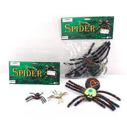 Насекомое P68 (72 паук, 3шт (7см,9см,28см-пищалка), 3цвета, в кульке, 25-33-4,5см