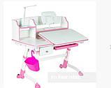 Дитяча парта регульована FunDesk Amare II Pink з висувним ящиком, фото 2