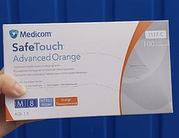 Перчатки смотровые нитриловые текстурированные без пудры нестерильные 5 г (100 шт/уп) Orange Medicom (M)
