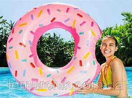 Надувной круг Пончик укушенный Donuts 94 см