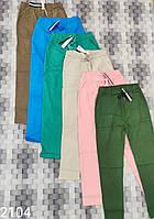 Женские летние коттоновые брюки размеры 42-48, цвет уточняйте при заказе
