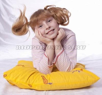 Подушки для детей с наполнителем лузга гречихи ТМ БиоПодушка
