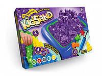Песок кинетический KidSand 1600г 4 цвета + надувная песочница