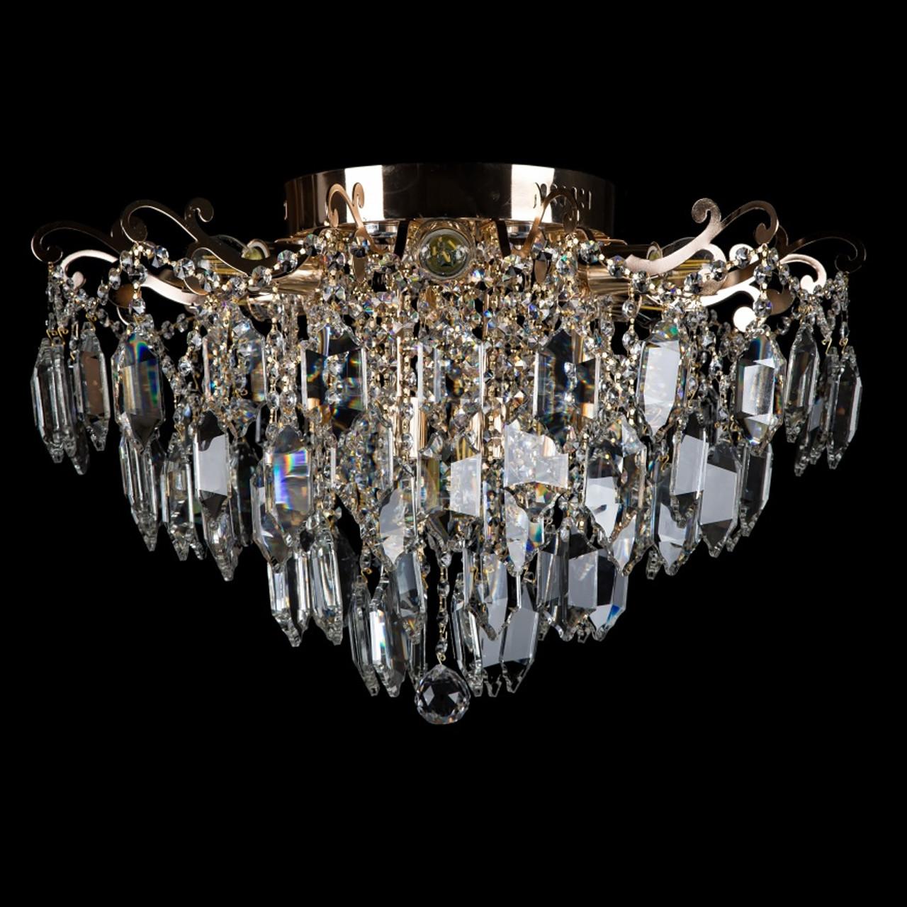 Хрустальная люстра СветМира на 8 лампочек со встроенной LED подсветкой рожков VL-2944/8+6 LED (FG)