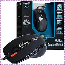 Игровая мышка A4Tech X7 X-710BK USB геймерская мышь а4теч oscar Х7 для компьютера, пк, ноутбука