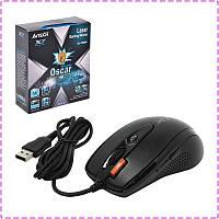 Игровая мышка A4Tech X7 XL-750BK-B USB геймерская мышь а4теч oscar Х7 для компьютера, пк, ноутбука