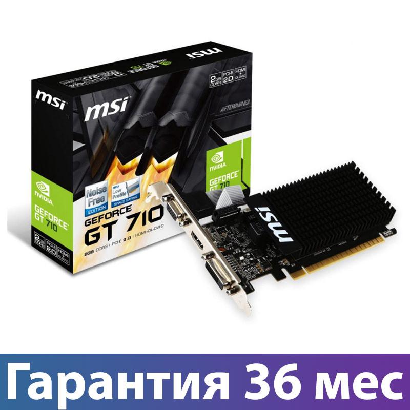Відеокарта GeForce GT710, MSI, 2 Гб DDR3, 64-bit (GT 710 2GD3H LP), відеокарта