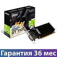 Видеокарта GeForce GT710, MSI, 2 Гб DDR3, 64-bit (GT 710 2GD3H LP), відеокарта