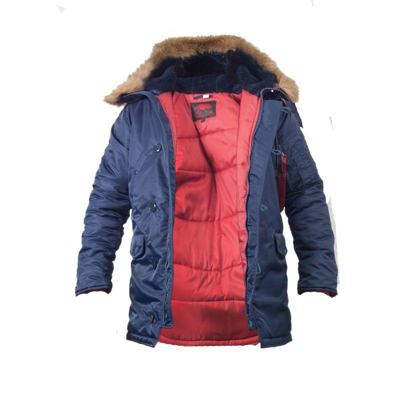 Куртка зимняя slim fit аляска n-3b Navy // РАЗМЕРЫ 48-50