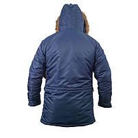 Куртка зимняя slim fit аляска n-3b Navy // РАЗМЕРЫ 48-50, фото 3