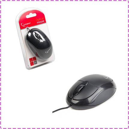 Мышь Gembird MUS-U-01, USB, черный цвет, мышка, фото 2