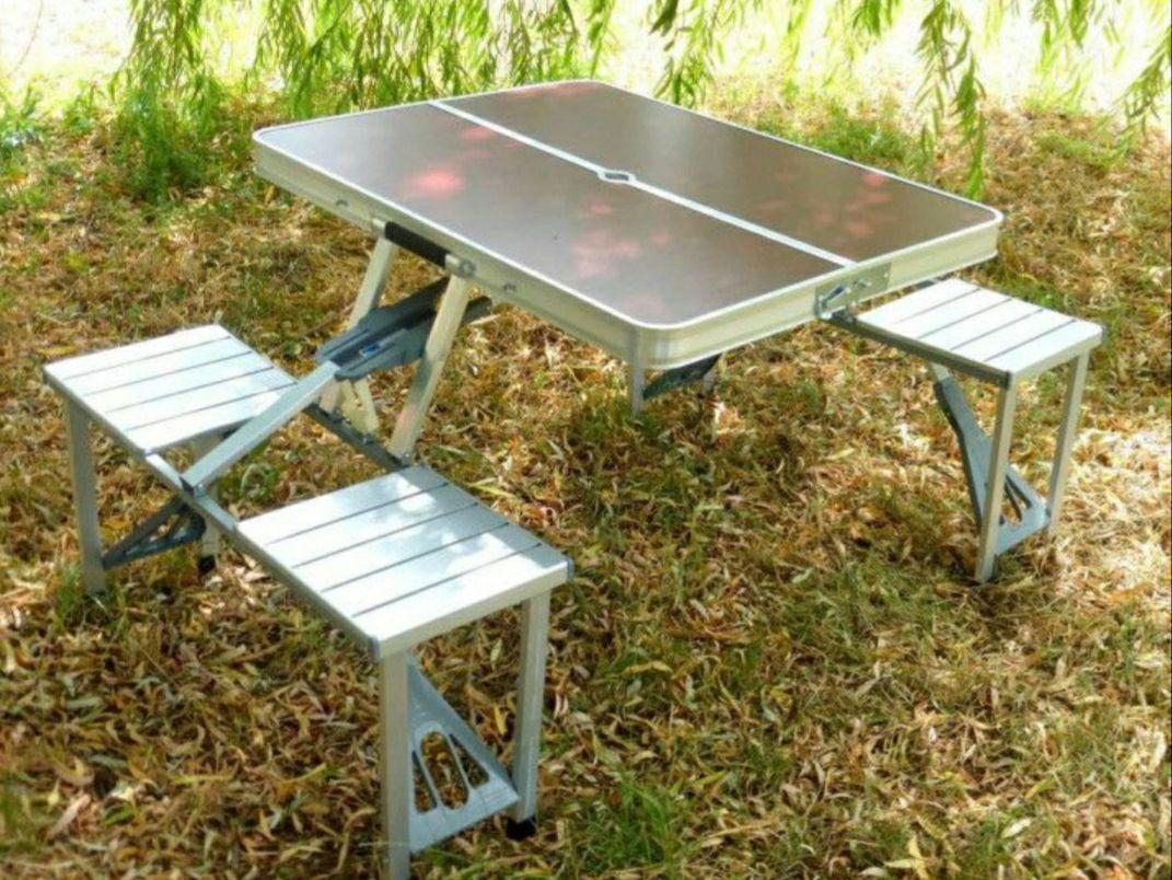 Стол для пикника раскладной с 4 стульями Rainberg