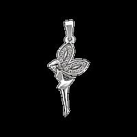 Серебряный подвес с камнями фея