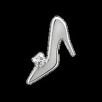 Серебряный подвес с камнями туфелька, фото 1