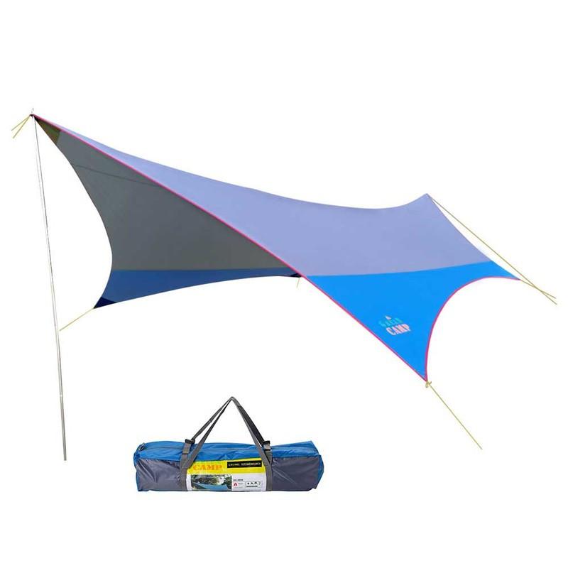 Тент GreenCamp синий (560х500х250см.)