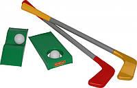 Набор игровой «Гольф» 6 элементов, в сетке 12*55см