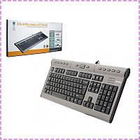 Клавиатура A4tech KL-7MUU-R X-slim USB, USB порт, вход для наушников и микрофона