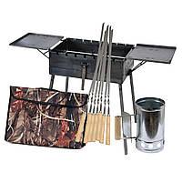 Мангал - чемодан 3 мм на 7 шампуров со столиками 550х300х150мм + Чехол + Набор шампуров + Стартер, фото 1