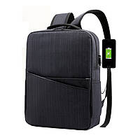 Рюкзак прочный с USB с карманом под ноутбук, множеством отделений