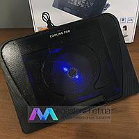 Охлаждающая подставка для ноутбука N151 регулируемая с подсветкой охладитель вентилятором USB