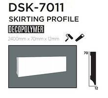Плинтус напольный DECOLUX DSK7011, лепной декор из дюрополимера