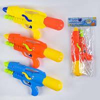 Водный пистолет 1166 (96/2) с насосом, 3 цвета, 1шт в кульке